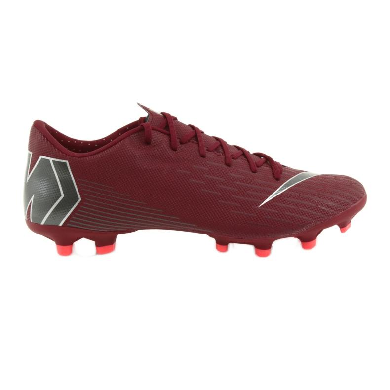 Nike Mercurial Vapor 12 Academy FG M AH7375-606 futballcipő burgundia piros