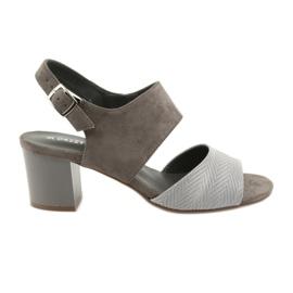 Daszyński Női magas sarkú cipő 122-4 barna