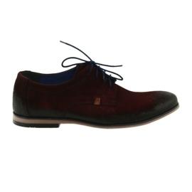 Férfi velúr cipő Nikopol 1709 bordó