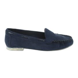Női velúr cipő, Sergio Leone 722 sötétkék haditengerészet