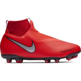 Labdarúgás cipő Nike Phantom Vsn Academy Df FG / MG Jr AO3287-600 piros piros