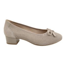 Női cipő Caprice 22501 bézs aranyszínű