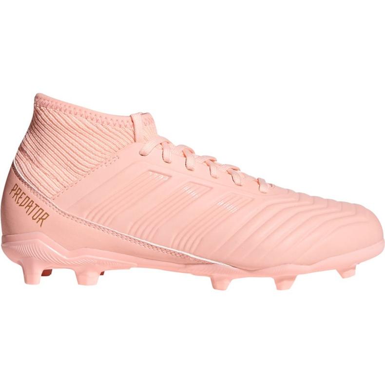 Foci csizma adidas Predator 18.3 Fg Jr DB2317 rózsaszín rózsaszín