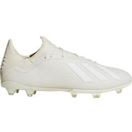 Adidas X 18.2 Fg M DB2181 futballcipő fehér fehér