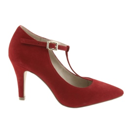 Női piros cipő Caprice 24400