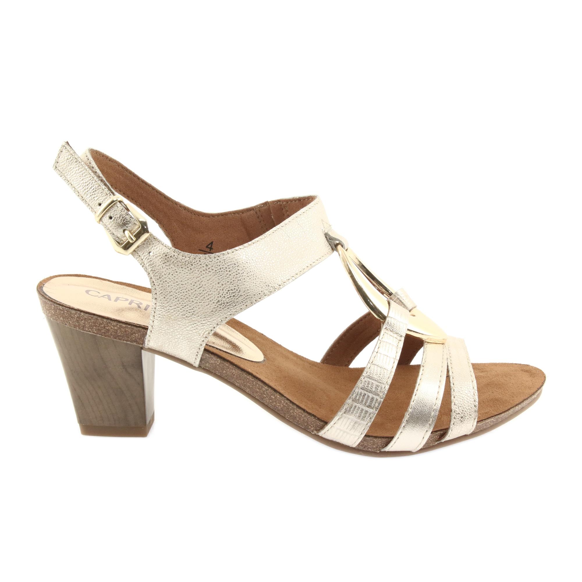 Caprice szandál női cipő 28307 fekete ButyModne.pl