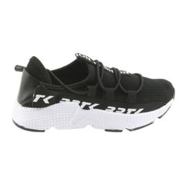 Bartek sportcipők fekete 55109 bőr betéttel