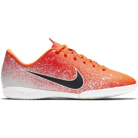 Beltéri cipő Nike Mercurial Vapor X 12 Academy Ic Jr AJ3101-801 fehér, narancs narancs