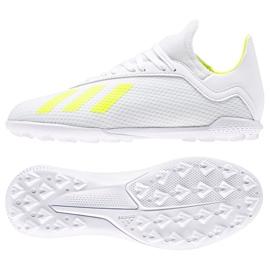 Adidas X 18.3 Tf Jr BB9404 futballcipő fehér fehér, sárga