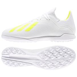 Foci cipő adidas X 18.3 Tf M BB9400 fehér, sárga fehér
