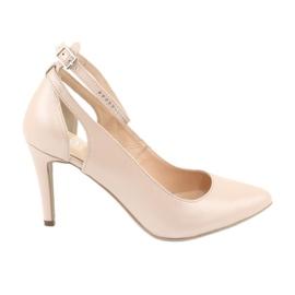 Női cipő Edeo 3212 bézs színű gyöngy barna