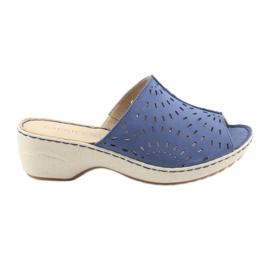Női papucs koturno Caprice 27351 farmer kék
