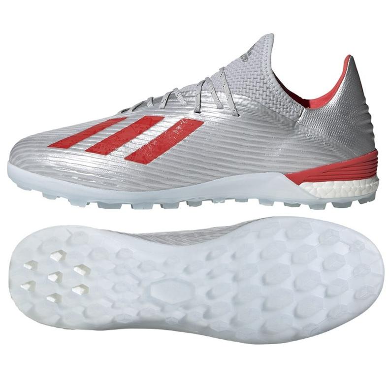 Adidas X 19.1 Tf M G25752 futballcipő piros, szürke / ezüst ezüst