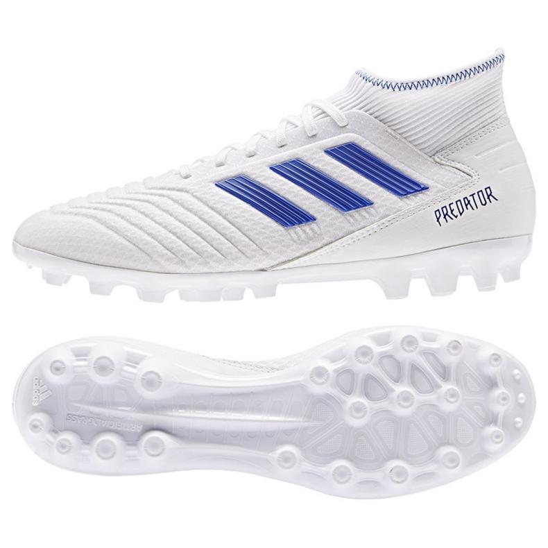 Adidas Predator 19.3 Ag M D97943 futballcipő fehér fehér