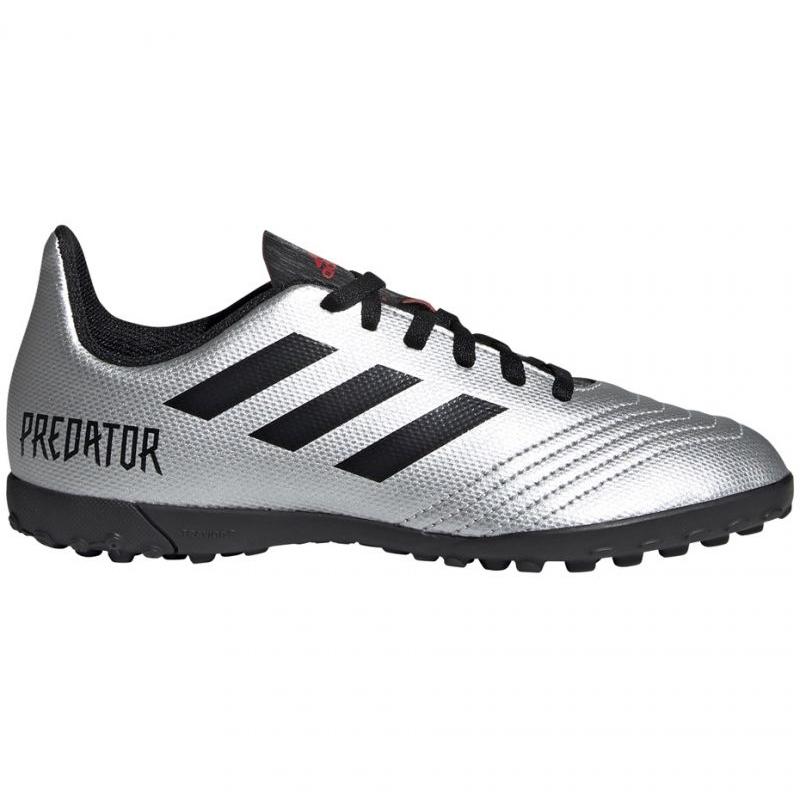 Adidas Predator 19.4 Tf Jr G25825 futballcipő ezüst szürke ezüst