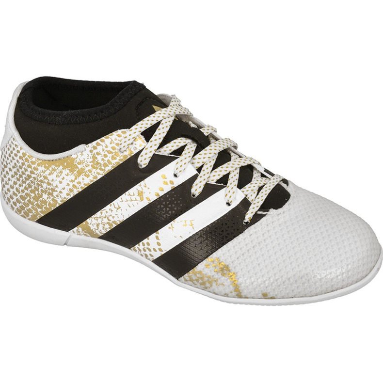 Adidas Ace 16.3 Primemesh A Jr AQ3427 beltéri cipőben fehér fehér