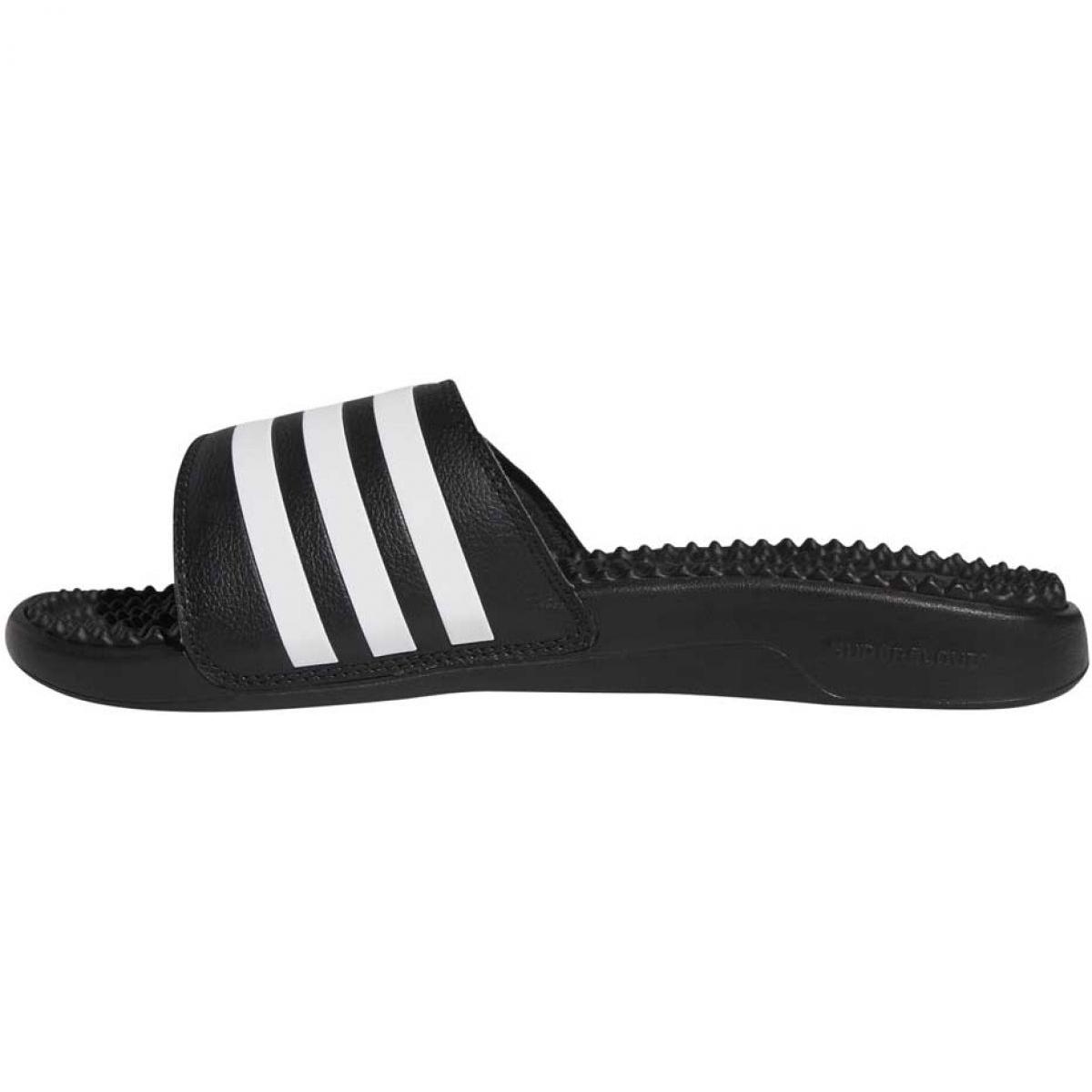 Divat Cipők Fekete fehér férfi papucs ADIDAS Aqualette