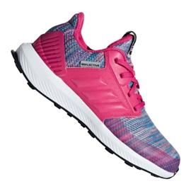 Rózsaszín Adidas RapidaRun Btw Jr AH2603 cipő ButyModne.pl