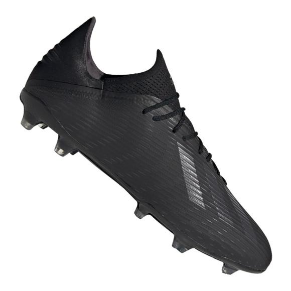 Adidas X 19.2 Fg M F35385 futballcipő fekete fekete