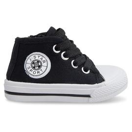 Magas gyerek cipők Y1309 fekete