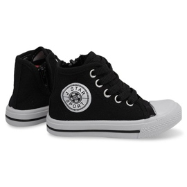 Magas gyerek cipők Y1312 fekete