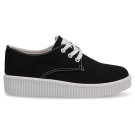 Fekete csipkés cipők kúszónövények BK-15