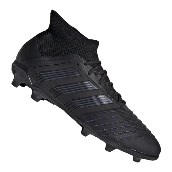 Adidas Predator 19.1 Fg Jr G25791 futballcipő fekete fekete