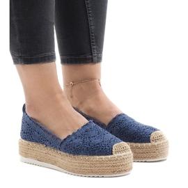 Kék cipők, espadrillák a 7801-P platformon