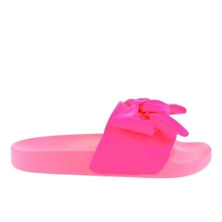 Rózsaszín papucs neon íjjal MU 6