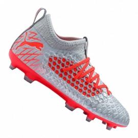 Futballcipő Puma Future 4.3 Netfit Fg / Ag Jr 105693-01 szürke piros, szürke / ezüst
