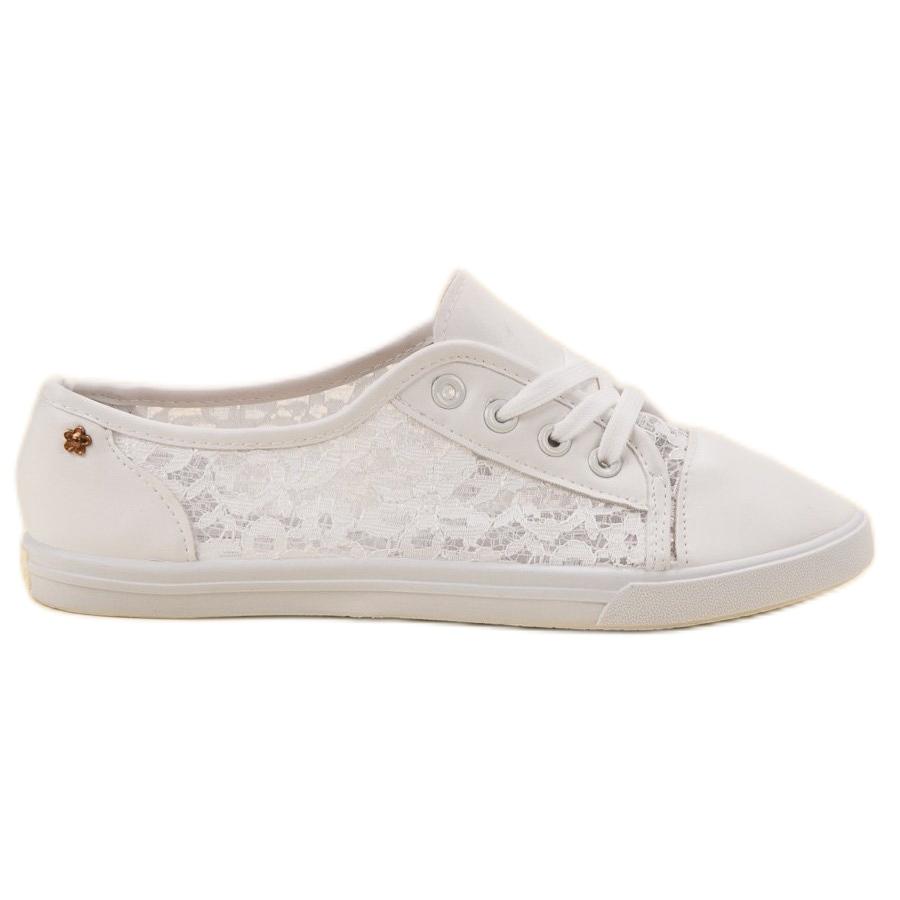 Renda Cipők Csipkével fehér