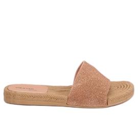 Női rózsaszín papucs JFF-V182 Pink