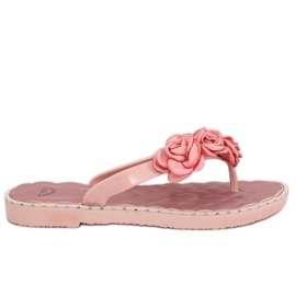 Flip papucs rózsaszín virágokkal YJL-1818 Pink
