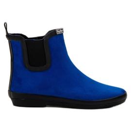Kylie Suede Leather Wellies kék