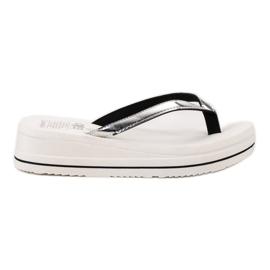 SHELOVET A flip-flop Wedge Heels fehér