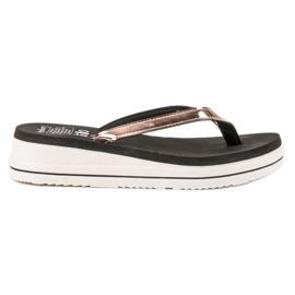 SHELOVET A flip-flop Wedge Heels sárga