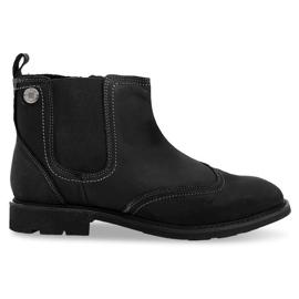 Magasszigetelt alacsony kötéssel ellátott cipő 4682 fekete