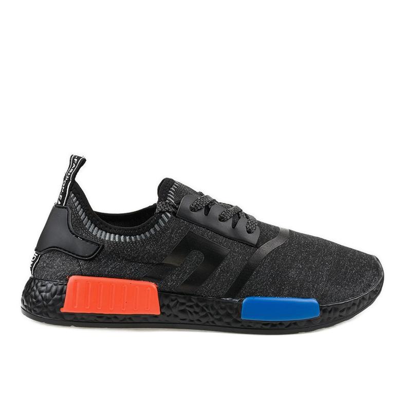 Fekete MD01A-6 sportcipő