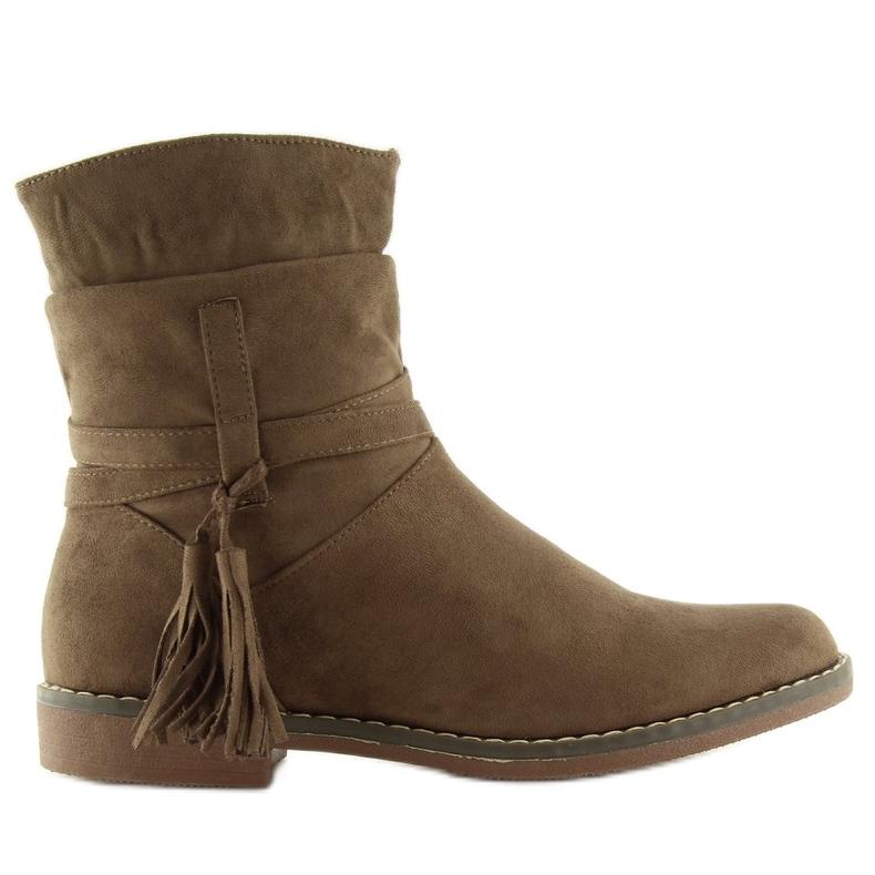 Barna női cipő 4169 Khaki