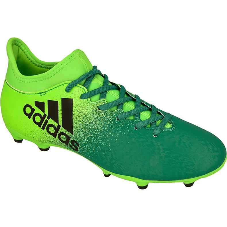 Adidas X 16.3 Fg M BB5855 futballcipő zöld zöld