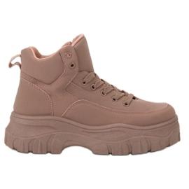 Kylie Csipkés felsőrészes cipő rózsaszín