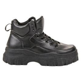 Kylie Csipkés felsőrészes cipő fekete
