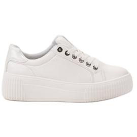 Kylie fehér Sport cipő a platformon