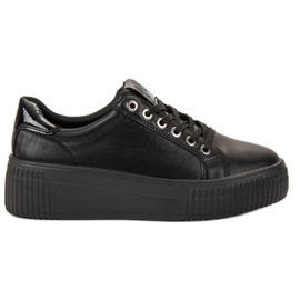 Kylie fekete Sport cipő a platformon