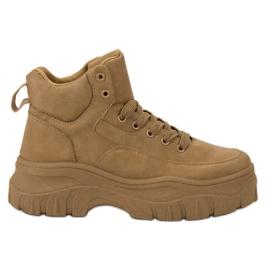 Kylie Csipkés felsőrészes cipő barna