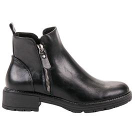 Vinceza Alacsony cipzáras csizma fekete