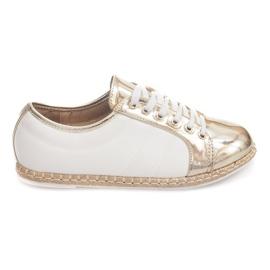 Ágynemű cipők Espadrilles Q52 arany sárga