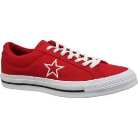 Converse One Star Ox cipő M 163378C piros