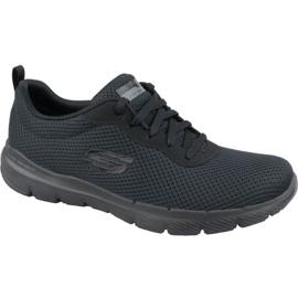 Fekete Skechers Flex Appeal 3.0 W 13070-BBK cipő