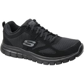 Fekete Skechers Burns M 52635-BBK cipő